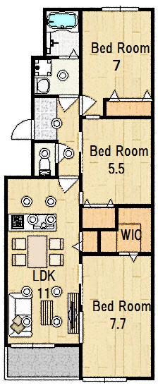 緑橋コーポ2号棟 部屋番号:511